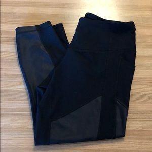 90 degree black Capri workout pants activewear